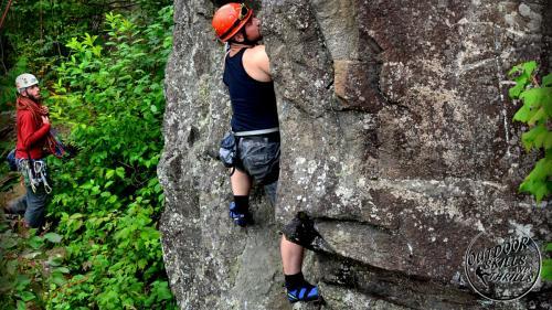 Rock climbing at The Bluffs -Outdoor Skills And Thrills -Photo by Ben Kuczma