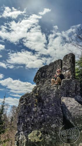 Rock climbing at The Bluffs -Outdoor Skills And Thrills -Photo by Aric Fishman