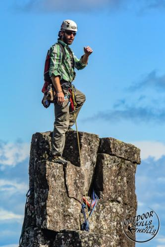 Rock Climbing the Dorion Tower -Outdoor Skills And Thrills -Photo by: Paul Desaulniers