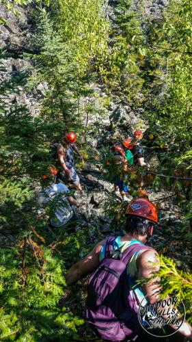 Rock Climbing the Dorion Tower -Outdoor Skills And Thrills -Photo by: Aric Fishman