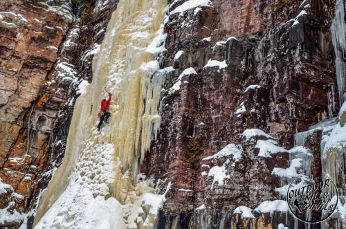 Ice climbing at Kama Bay -Outdoor Skills And Thrills -Photo by Terry Milne