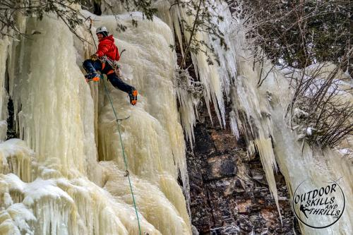 Ice climbing at Kama Bay -Outdoor Skills And Thrills -Photo by Fred Giroux