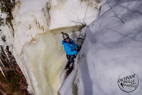 Ice climbing at Kama Bay -Outdoor Skills And Thrills -Photo by Paul Desaulniers