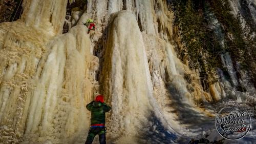 Ice climbing at Kama Bay -Outdoor Skills And Thrills -Photo by Aric Fishman