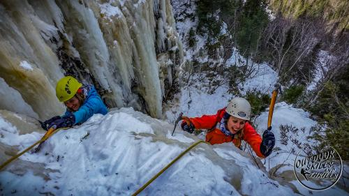 Ice climbing at Thunder Bay -Outdoor Skills And Thrills -Photo by Aric Fishman