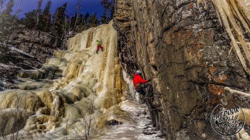 Ice/Mixed climbing at Orient Bay -Outdoor Skills And Thrills -Photo by Aric Fishman