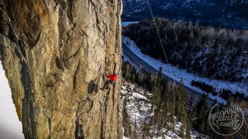Mixed climbing at Orient Bay -Outdoor Skills And Thrills -Photo by Aric Fishman