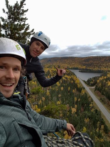 L to R - Andy Noga and Steve Charlton living the dream on Courage Highway - Photo by Andy Noga