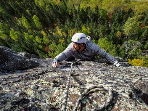 Andy Noga climbing on Courage Highway - Photo by Aric Fishman