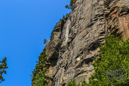 Rock Climbing at Orient Bay -Outdoor Skills And Thrills -Photo by: Kyle Brooks