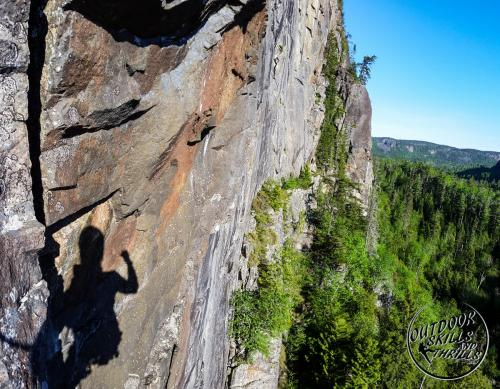 Rock Climbing at Orient Bay -Outdoor Skills And Thrills -Photo by: Aric Fishman