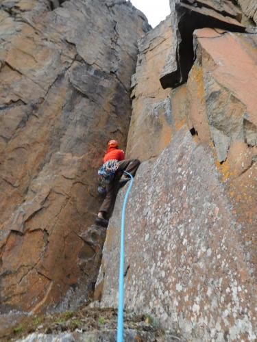 New Route - Papyrus, Pitch 2 - Photo by Jon Jugenheimer