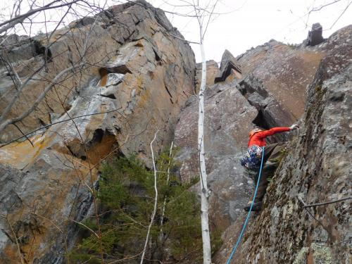 New Route - Papyrus, Pitch 1 - Photo by Jon Jugenheimer
