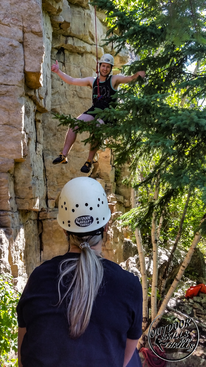 Rock climbing at Pass Lake - Outdoor Skills And Thrills -Photo by: Aric Fishman