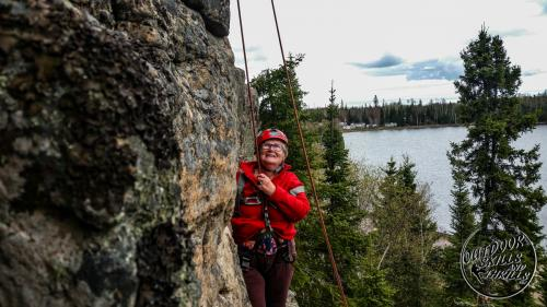 Rock climbing at Pass Lake - Outdoor Skills And Thrills -Photo by: Aric Fishman