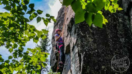 Rock climbing at Silver Harbour -Outdoor Skills And Thrills -Photo by: Aric Fishman