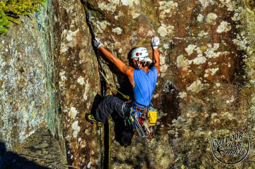 Rock climbing at Silver Harbour -Outdoor Skills And Thrills -Photo by: Ryan Ford