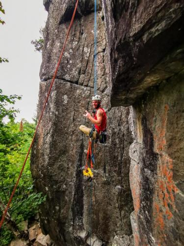 New Route - Aric Fishman on Silver Lining - Photo by Harris Franklin