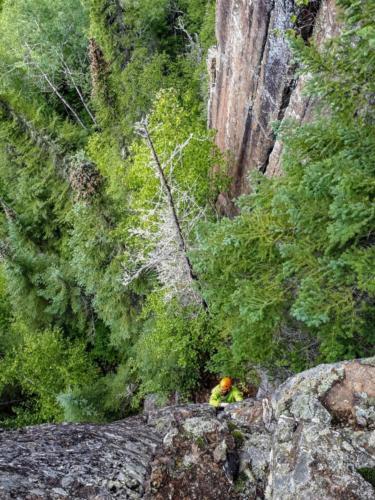 Brent Clark climbing Training Wheels - Photo by Aric Fishman